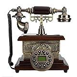 Vintage antikes Handy, Retro-dekoratives Handy mit Anrufer-ID-Anzeige, Festnetz-Handy mit Drehwahlschalter für Home-Office-Hotel