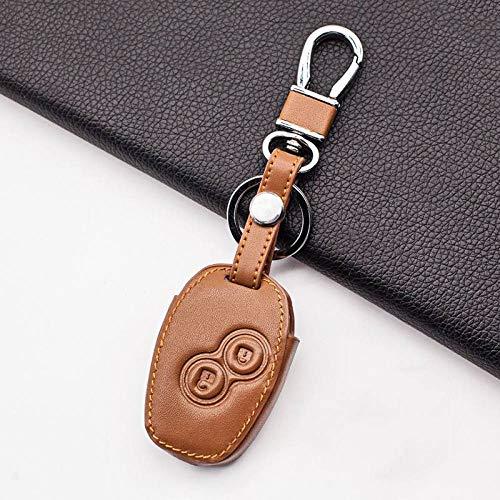 RWJFH Cubierta de la Caja de la Llave del Coche para Renault Dacia Sandero Captur Twingo Megane Scenic Kangoo Modus 2 Botones Carcasa Protectora, marrón