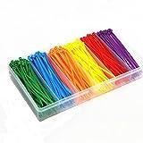 LaDicha 600Pcs 100 * 2.5 Mm di Nylon Autobloccante Cavo Fascette Zip 6 Colori per Il Modello Rc