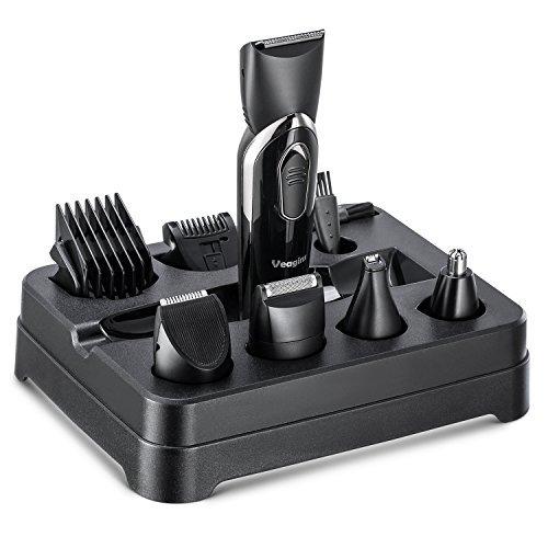 Veagins Kit todo en 1 de litio para hombre, recortadora de barba para hombres, cortadoras de pelo, afeitadoras, recortadoras de nariz, orejas, recargable