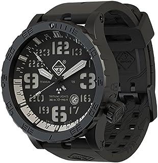 Hazard 4 - Heavy Water Diver Titanium Tritium Watch Nightwatch White GMT Verde/Amarillo