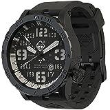 HAZARD 4 Heavy Water Diver(TM) Nightwatch White GMT: Titanium Tritium Dive-Watch - B