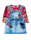 Desigual Vest_HAIZEA Vestido, Rojo (Carmin), 1 mois (Talla del Fabricante: 3) para Bebés