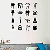 Odontología dental estomatología etiqueta de la pared pegatina arte vinilo decoración decoración para clínica dental hospital