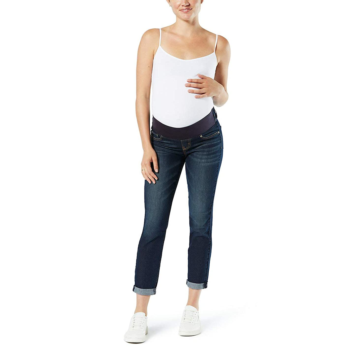 Signature by Levi Strauss & Co. Gold Label Women's Maternity Baby Bump Slim Boyfriend Jeans
