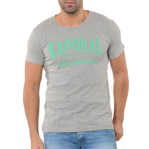 Kaporal - t-shirt - à logo - homme - Gris (Grey Chiné) - FR: Small (Taille fabricant: S)