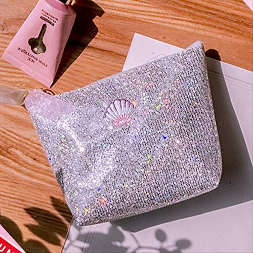 Sac cosmétique de voyage petit sac cosmétique féminin portable main grande capacité simple sac de stockage de cosmétiques portables B