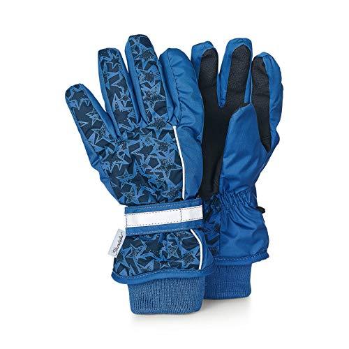 Sterntaler Wasserabweisende und wasserdichte Fingerhandschuhe mit Sternen-Motiv, Alter: 10-11 Jahre, Größe: 6, Blau (Atlantik)