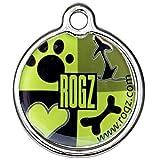 Rogz Instant ID-Tagz, 34 mm, Zumo de Lima