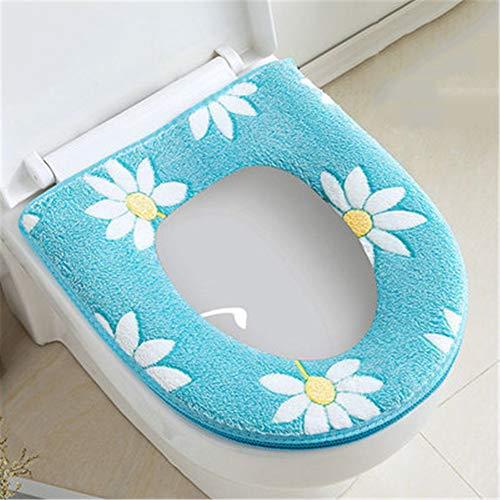 Winter toiletbril 3-delig pak klittenband/rits koraal fleece toiletbril zacht verwijderbaar toiletkussen