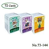 72 piezas de tarjetas de juego de etiquetas NFC para ANCH, (No. 73-No. 144) Tarjetas ACNH con cubierta de cristal, compatibles con Nintendo Switch / Wii U