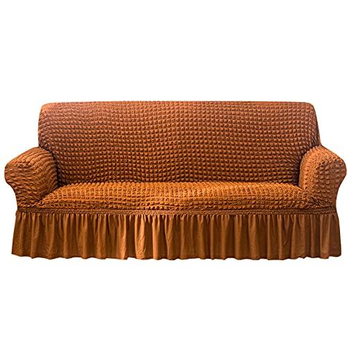 XYXH Funda Cubre Sofa Antideslizante 3 Plazas, Funda Elástica De Sofá, Cubre Sofa con Reposabrazos, Cómodos Transpirable para Todas Las Estaciones para Cuarto, Sala