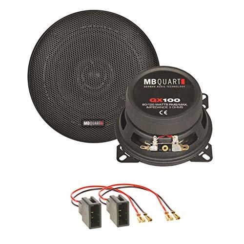 MB Quart QX100 Lautsprecher Einbauset für Citroen C1 Toyota Aygo Peugeot 107 Armaturenbrett