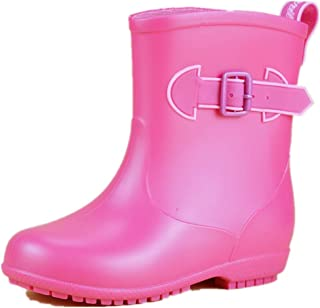 Robasiom Kids Rain Boots Waterproof PVC Unisex Boy and Girls Rain Shoes