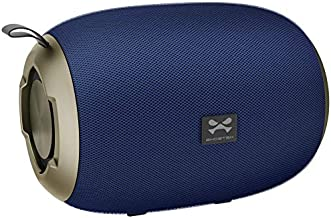 Ghostek Odeon Portable Wireless Bluetooth Speaker with Built-in Mic & Rich Bass – Blue/Gold | Enhanced HD Sound Perfect for iPhone, Samsung Galaxy, MacBook, iPad, Tablet, Laptop