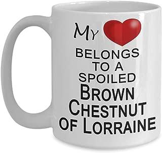 Brown Chestnut of Lorraine Rabbit Mug, Gift for Rabbit Lover - My Heart Belongs to a Spoiled Rabbit