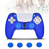 PS5 Controller Cover, Silicone PS5 Controller Grips with 4Pcs Joystick Grip Caps, Dustproof Durable PS5 Controller Protector Case for Sony Playstation 5 Controller Grips Skin with 4 Thumb Grips