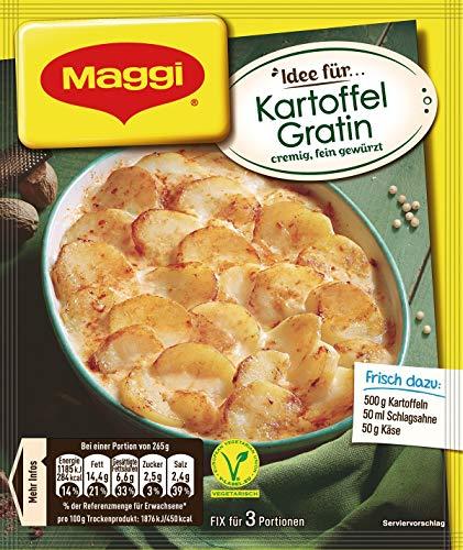 Maggi Fix für Kartoffel Gratin, Kartoffelscheiben mit sahniger Sauce und Käse, 1er Pack (1 x 43g)