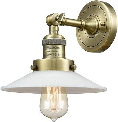 Innovations 203-AB-G1 1 Light Sconce, Antique Brass