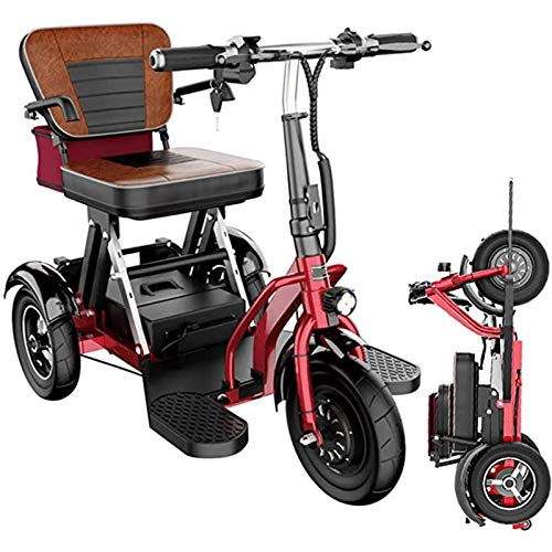Ancianos Ocio Electric Tricycle Scooter Plegable Coche Eléctrico Adulto Pequeño Mini Discapacitado Coche (Color : 35km)