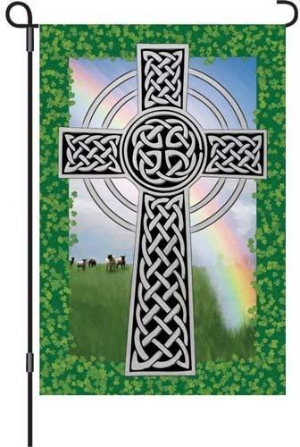 Brownrio Garden Brilliance Flag, Celtic Cross, 12 by 18-Inch