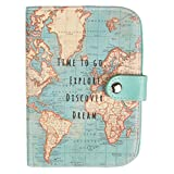 con Retro in Sughero Sottobicchiere Motivo: Mappa Vintage Sass /& Belle in Ceramica 4 Pezzi