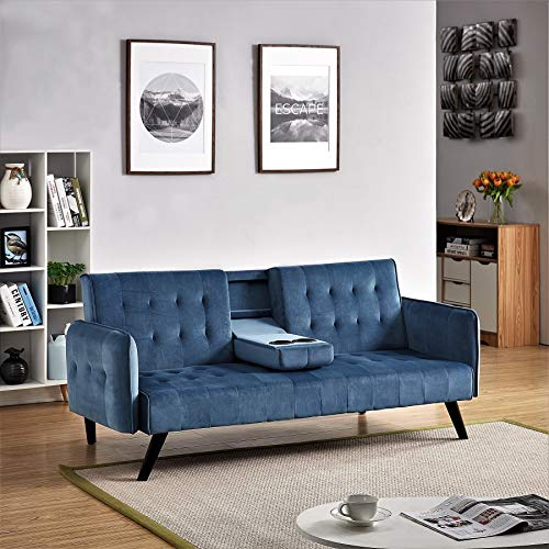 US Pride Furniture Sofabed, Sleeper, Blue