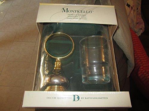 Monticello y soporte para vaso de cromo y acabado de latón by Monticello