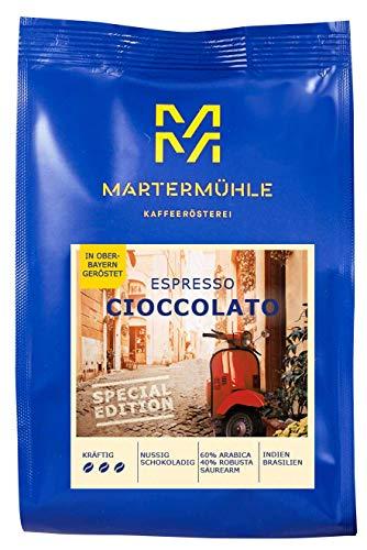 Martermühle I Espresso Cioccolato I Sonderedition I Espresso ganze Bohnen I Premium Espressobohnen I geröstete Espressobohnen I Espresso säurearm I 60% Arabica & 40% Robusta I 500g