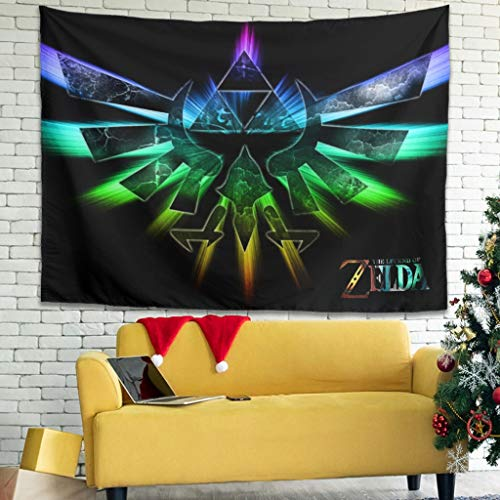 WellWellWell Zelda Eagle Trifoce - Tapiz multifuncional para toalla de playa, picnic, 150 x 130 cm, color blanco