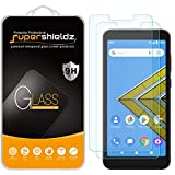 (2 Pack) Supershieldz for AT&T Radiant Core and Cricket Icon Tempered Glass Screen Protector, Anti Scratch, Bubble Free