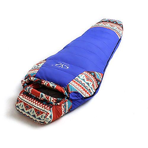 Winter Outdoor-Schlafsack, Erwachsene Plus Samt gepolstert einzigen Schlafsack, Camping-Reise Ultraleicht tragbaren wasserdicht Winddicht Schlafsack Fyxd
