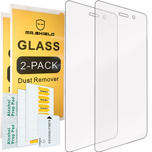 [2-PACK]-Mr.Shield Designed For Huawei P8 Lite [Tempered Glass] Screen Protector with Lifetime Replacement