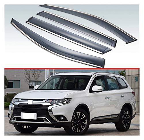 CGDD Deflectores de Viento para Mitsubishi Outlander 2013-2019 Visa Exterior de plástico Ventas de ventilación de Ventanas Sun Sun Rain Guard Deflector 4pcs Cortavientos para ventanilla