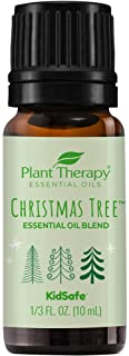 Plant Therapy Christmas Tree Holiday Essential Oil Blend 100% Pure, Undiluted, Natural, Therapeutic Grade 10 mL (1/3 oz)