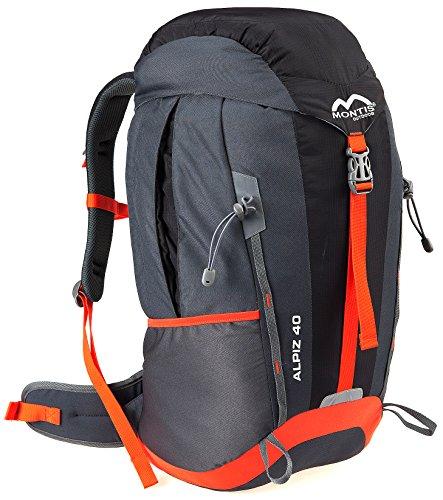 MONTIS ALPIZ AIR 40 Unisex Trekking-Rucksack, Wander-Rucksack & Reise-Rucksack in einem, ermöglicht dank Regenschutz auch Bike- & Campingtouren, im modernen Look mit viel Extras & Belüftungssystem