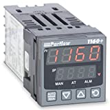 Partlow P1160100400 1160+ Series 1/16 DIN Temperature Controller, 100 to 240 VAC, One relay Output, Red Upper/Green Lower Display