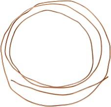 Round Copper Tube, 2M OD 2mm x ID 1mm Pratical Excellent Electrical Conductivity Weldability Refrigeration Plumbing Soft C...