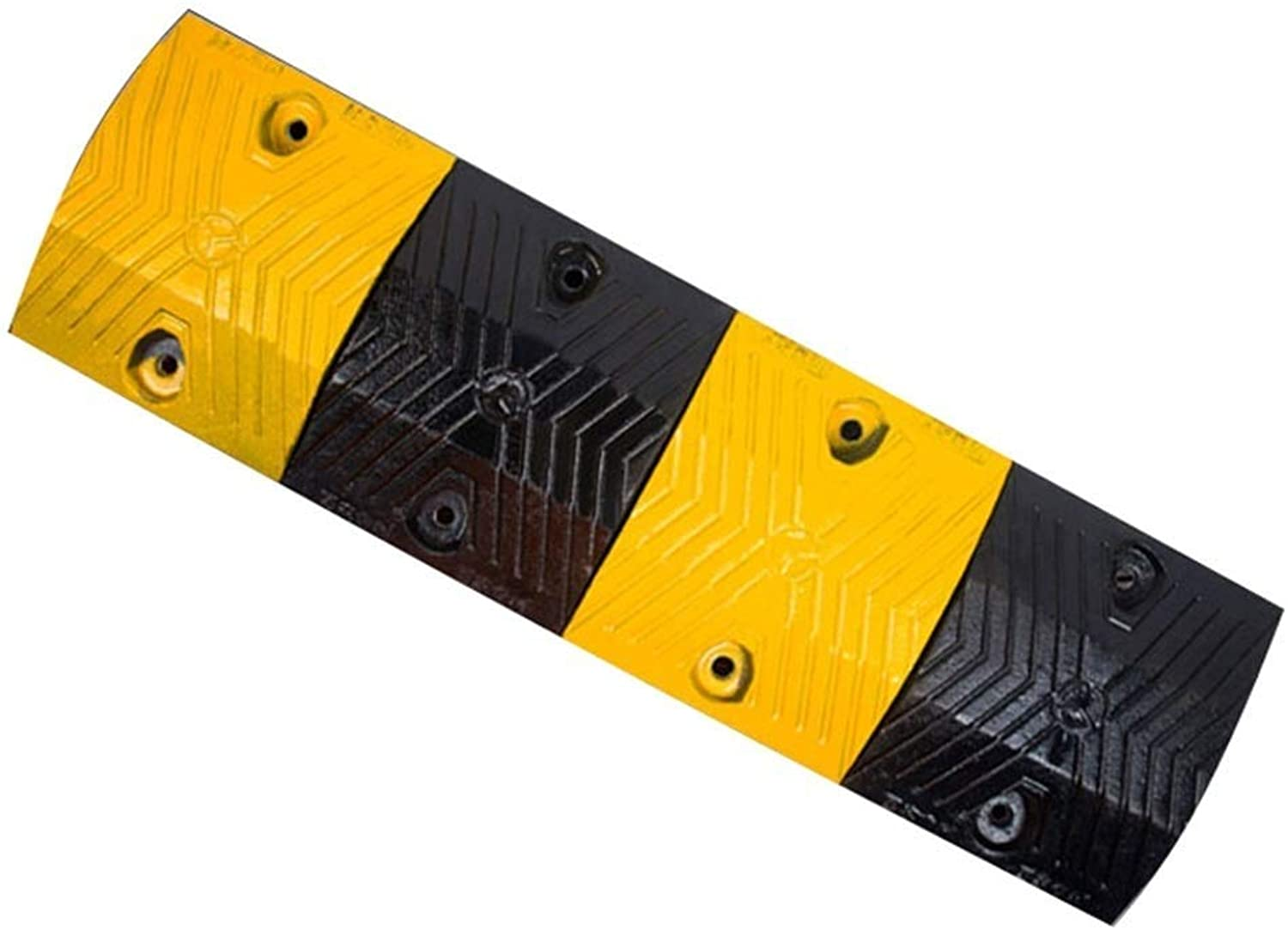 DJSMxpd Convenience Cast Steel Speed Bump, Multifunction Reflective Deceleration Zone Highway Slow Down Anti-Collision Facility (Size   100  28  4.5CM)