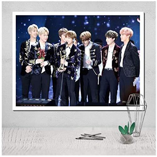 K-pop Jongens Groep Posters Wall Art Canvas Moderne Canvas Schilderen Muur Kunst voor Home Decor -60x90cmx1pcs- Geen Frame