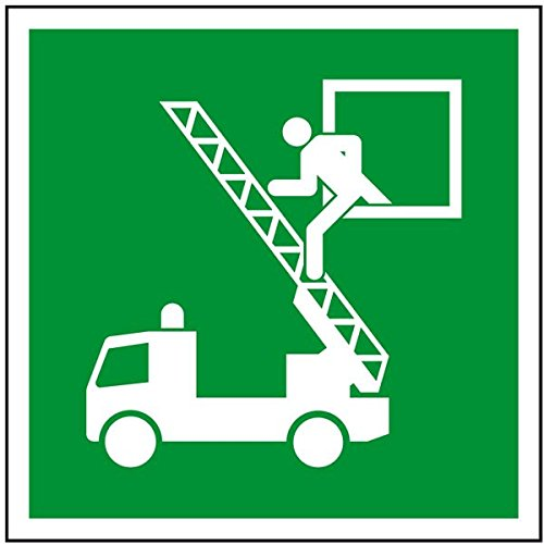 LEMAX® Rettungszeichen Rettungsausstieg, ASR/ISO, Folie, selbstklebend, 200x200mm