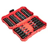 AmazonBasics 42-Piece Impact Screwdriver Bit Set - Phillips, Slotted and Torx