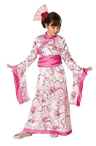Childrens Asian Princess Fancy Dress Costume Japanese Jasmin Outift 3-4 Yrs