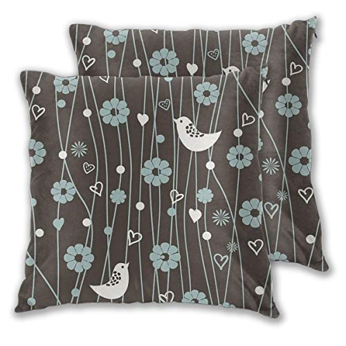 Throw Pillow Covers Flower Bird Cushion Covers Soft Polyester Square Decorative Throw Pillow Case For Living Room Sofa Couch Bed Pillowcases 2pc Variety Of Sizes