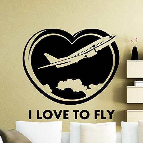 hetingyue Ik liefde vliegen decals huis garage woonkamer interieur decoratie waterdicht kunst wandafbeelding