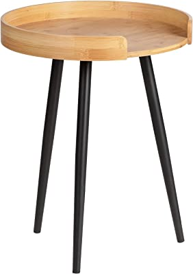 WENKO Loft Table d'appoint, Bambou, Naturel, 40 x 50 x 40 cm