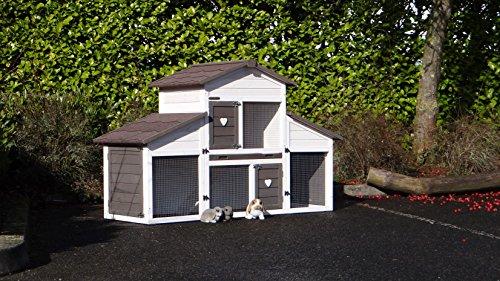 Animalhouseshop.de Kaninchenstall Annemieke mit Auslauf 175x70x110cm - 3