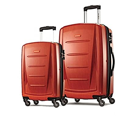 Samsonite Winfield 2 Fashion Hardside Spinner (20-Inch & 28-Inch, Orange)