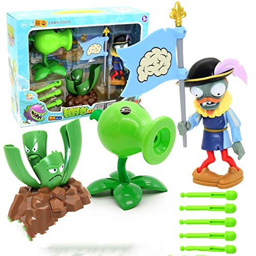 Nuevo popular Plants vs Zombies Figura de acción Figuras Juguete Muñeca Modelo Pea Shooter Juego interactivo para padres Regalo de cumpleaños para niños