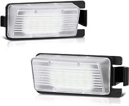 VIPMOTOZ Full LED License Plate Light Lamp Assembly Replacement For Nissan 350Z 370Z GT-R Versa Cube Leaf & Infiniti G25 G35 G37 Q40 Q60, 6000K Diamond White, 2-Pieces
